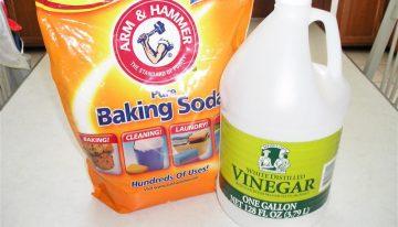 Foot Soak Using Vinegar and Baking Soda