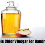 Remove Dandruff with Vinegar