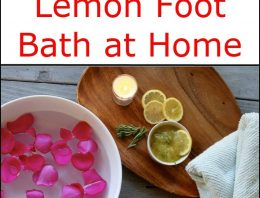 DIY Honey And Lemon Foot Bath
