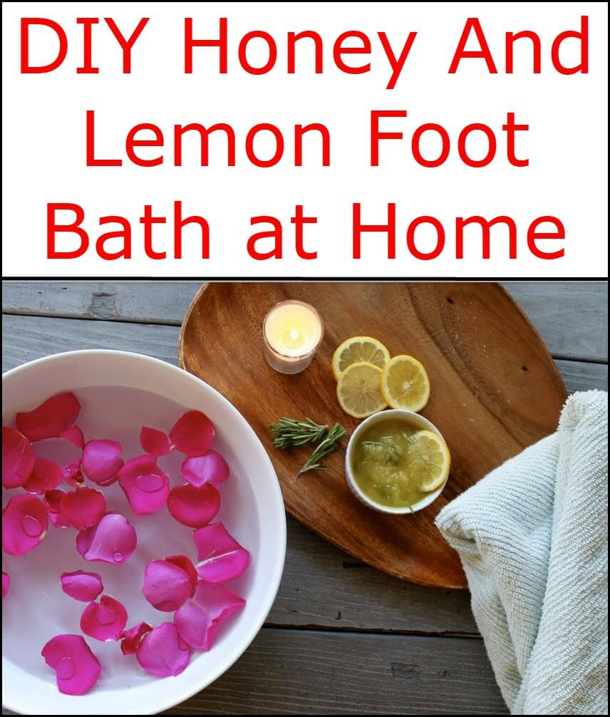 Honey And Lemon Foot Bath
