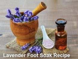 Lavender Foot Soak Recipe