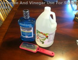 Listerine And Vinegar Use For Softer Feet