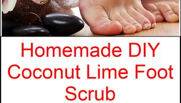 Homemade DIY Coconut Lime Foot Scrub
