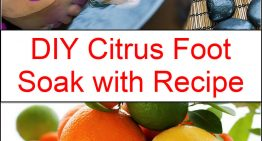 DIY Citrus Foot Soak with Recipe